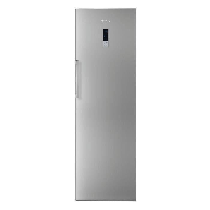BRANDT BFL584YNX Réfrigérateur - 355 L - Froid ventilé - A++ - L64,3 x P194,8 cm - Inox