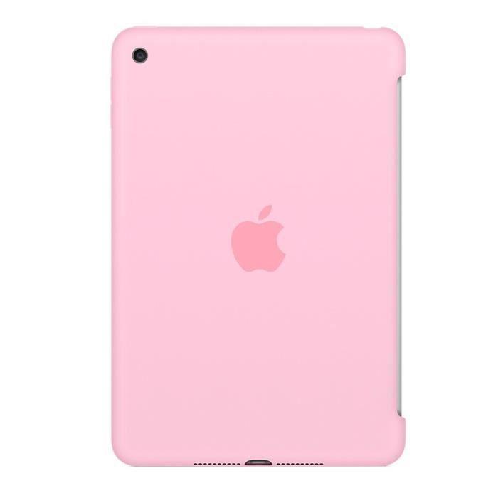 Apple - Coque de protection pour pour iPad mini 4 - MM3L2ZM/A - Silicone - Rose Pâle