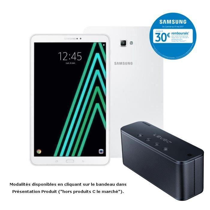 Samsung Galaxy Tab 10,1'' + Enceinte Samsung Level Box mini Noire offerte - RAM 2 Go- Stockage 16 Go -Octo Core -Android 6.0
