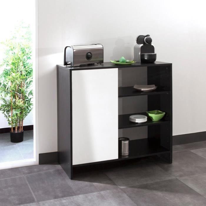 buffet de cuisine noir excellent creatif buffet cuisine. Black Bedroom Furniture Sets. Home Design Ideas