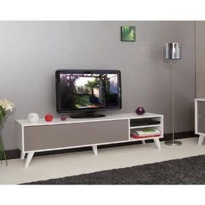 meuble tv taupe achat vente meuble tv taupe pas cher soldes d s le 10 janvier cdiscount. Black Bedroom Furniture Sets. Home Design Ideas