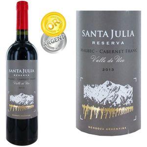 VIN ROUGE Santa Julia Reserva Malbec-Cabernet Franc Mendoza