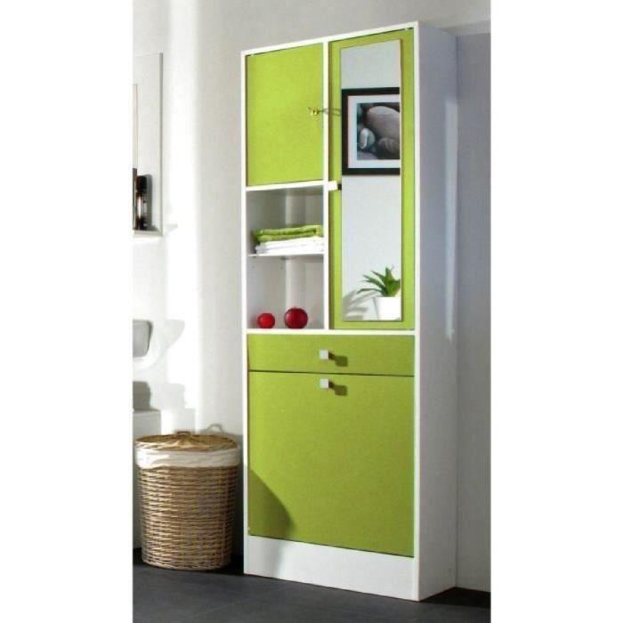 galet armoire de toilette 60 cm vert pomme achat vente armoire de chambre galet armoire. Black Bedroom Furniture Sets. Home Design Ideas