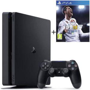 CONSOLE PS4 NOUVEAUTÉ Nouvelle PS4 Slim 500 Go Noire + Fifa 18 Jeu PS4