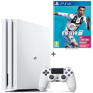 CONSOLE PS4 NOUVEAUTÉ Pack PS4 Pro 1 To Blanche + FIFA 19