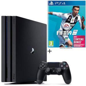 CONSOLE PS4 NOUVEAUTÉ Pack PS4 Pro 1 To Noire + FIFA 19