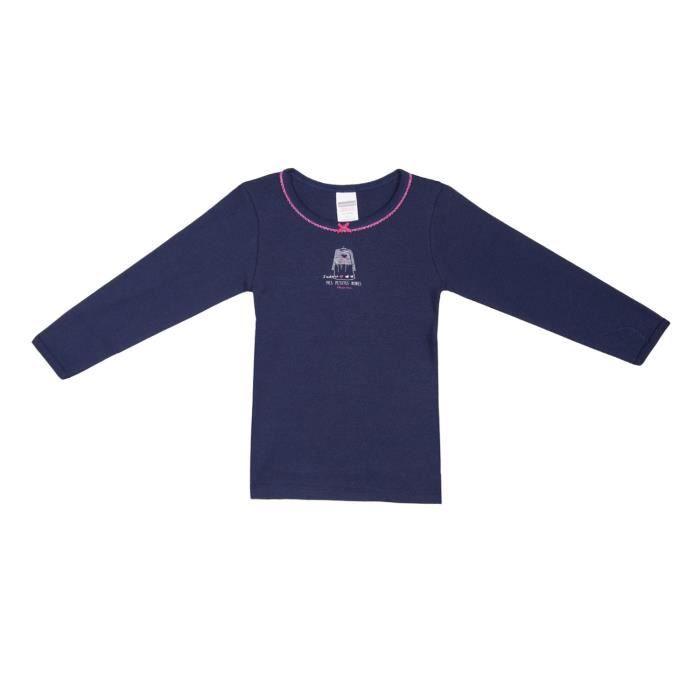 ed1e05ad2d774 ABSORBA UNDERWEAR Tee-Shirt Bleu Matelot Enfant Fille Bleu matelot ...
