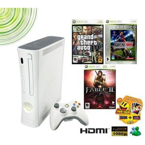 CONSOLE XBOX 360 PACK XBOX 360 ARCADE + 3 VALUE GAMES