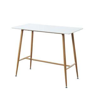Table bar laque blanc achat vente pas cher - Table mange debout blanc laque ...