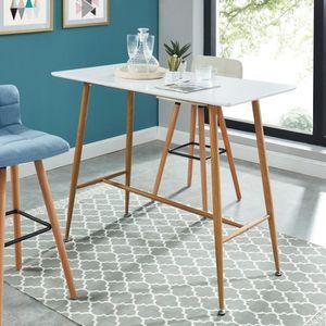 table bar laque blanc achat vente pas cher. Black Bedroom Furniture Sets. Home Design Ideas