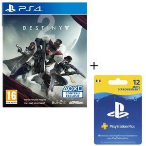 JEU PS4 Destiny 2 + Abonnement PlayStation Plus 12 mois
