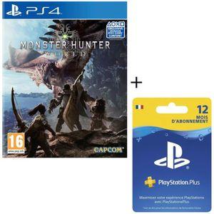 JEU PS4 Monster Hunter World jeu PS4 + Abonnement Playstat