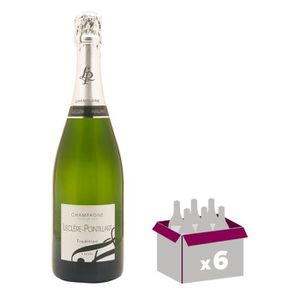 CHAMPAGNE LECLERE POINTILLART Champagne - Brut - 75 cl x 6