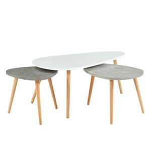 Table Basse Gigogne Scandinave Achat Vente Pas Cher