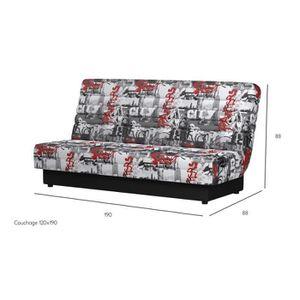 banquette lit 2 places achat vente pas cher. Black Bedroom Furniture Sets. Home Design Ideas