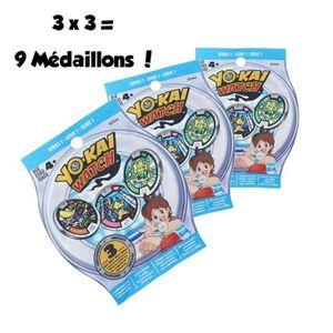 FIGURINE - PERSONNAGE YO-KAI WATCH - Pack de 3 Sachets Mystère de 3 Méda
