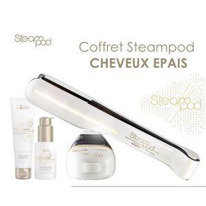 FER A LISSER Pack L'Oréal Steampod cheveux épais : Lisseur + cr