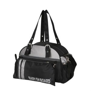 SAC À LANGER BABY ON BOARD Sac You and Me Noir Alu