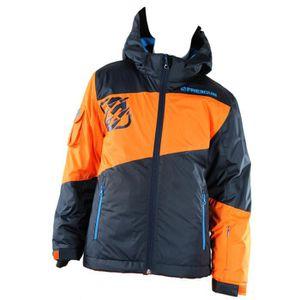 BLOUSON DE SKI FREEGUN Veste Ski - Bleu Orange - Enfant Garçon