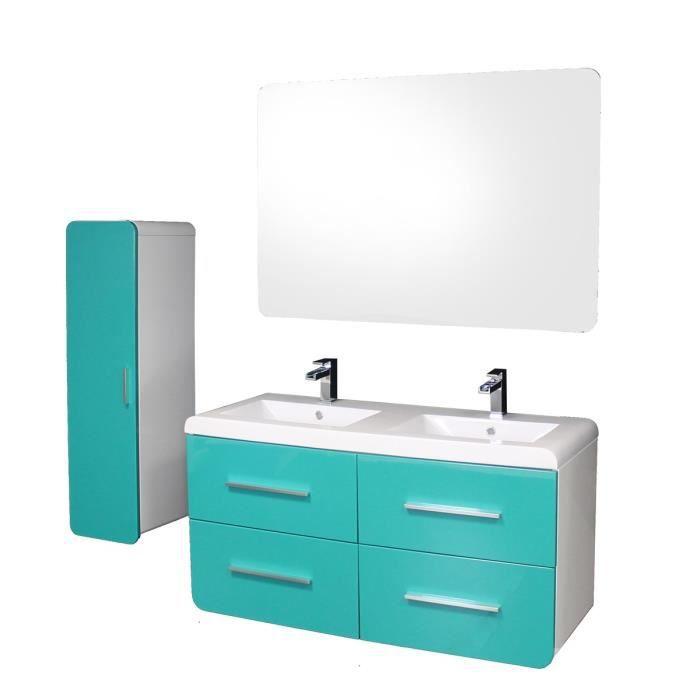 Cdiscount meuble salle de bain double vasque luna colonne for Ensemble meuble salle de bain cdiscount