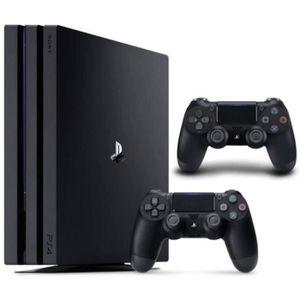 CONSOLE PS4 NOUVEAUTÉ Pack PS4 Pro 1To Noire + Manette PS4 DualShock 4 N