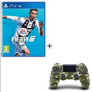 PACK ACCESSOIRE Pack FIFA 19 Jeu PS4 + Manette PS4 DualShock 4 Gre