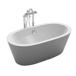 BAIGNOIRE - KIT BALNEO Baignoire ilot ovale design 170x80 cm en acrylique