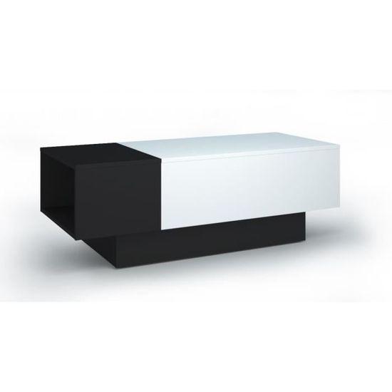 Soda Table Basse Style Contemporain Noir Et Blanc L 116 150 X L 51 Cm