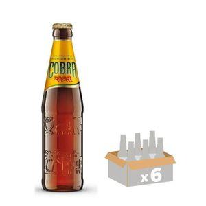 BIÈRE COBRA Lot de 6 Bouteilles de Bière blonde 33 cl