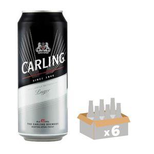 BIÈRE CARLING LAGER 0,50L Lot de 6 Bouteilles de Bière b