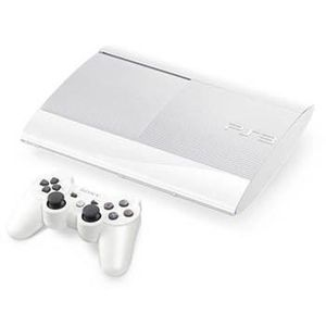 CONSOLE PS3 *PS3 12 Go Blanche Ultra Slim+Manette DualShock 3*