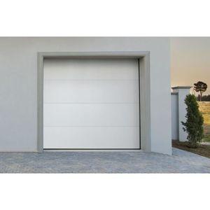 PORTE DE GARAGE Porte de garage sectionnelle motorisé blanche Whit