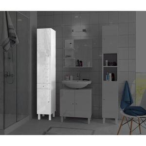 colonne salle de bain 30 cm bambou. Black Bedroom Furniture Sets. Home Design Ideas