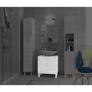 meuble sous lavabo avec colonne achat vente pas cher. Black Bedroom Furniture Sets. Home Design Ideas