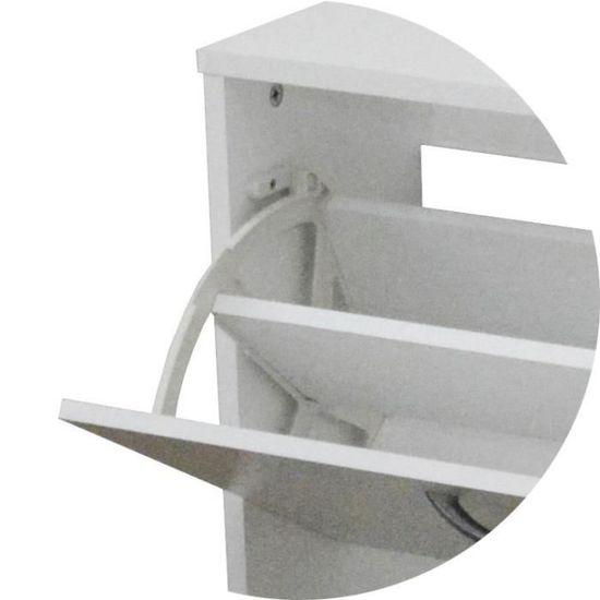 SCARPA Meuble à chaussures contemporain blanc mat - Achat   Vente meuble à chaussures  SCARPA Meuble à chaussures - Cdiscount 1b6ecf45d770