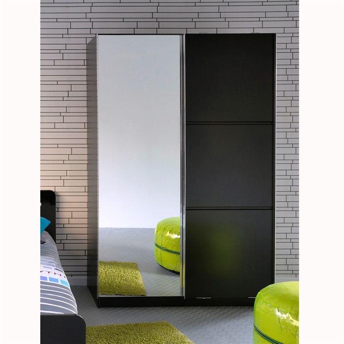 Star armoire 2 portes noire achat vente armoire de for Acheter une porte