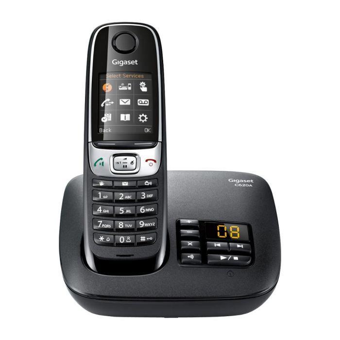 d34e73effa4905 Gigaset C620A Solo Téléphone Sans Fil Réondeur Noir - Achat ...