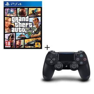 PACK ACCESSOIRE GTA V + Manette DS4 Noire