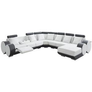 CANAPÉ - SOFA - DIVAN CHARLES L Canapé de relaxation d'angle droit fixe
