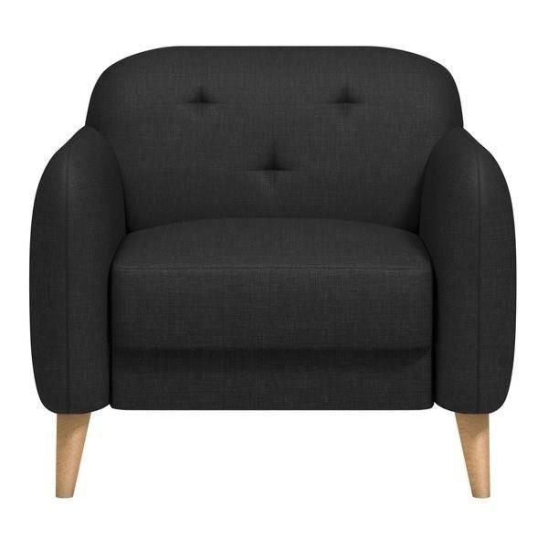 clemm fauteuil tissu chin gris anthracite achat vente fauteuil soldes d s le 10 janvier. Black Bedroom Furniture Sets. Home Design Ideas