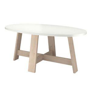 TABLE À MANGER SEULE TINA Table à manger de 6 à 8 personnes décor chêne