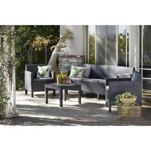 salon de jardin 5 places achat vente pas cher. Black Bedroom Furniture Sets. Home Design Ideas
