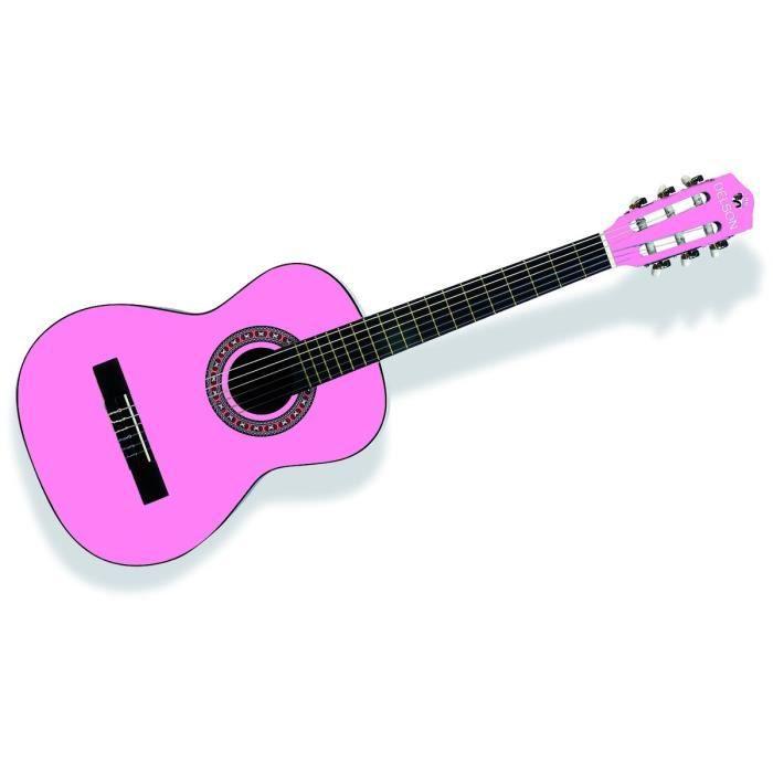 guitare classique rose