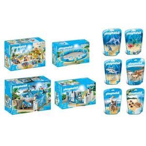 UNIVERS MINIATURE PLAYMOBIL - Gamme Family Fun - L'Aquarium - Lot de
