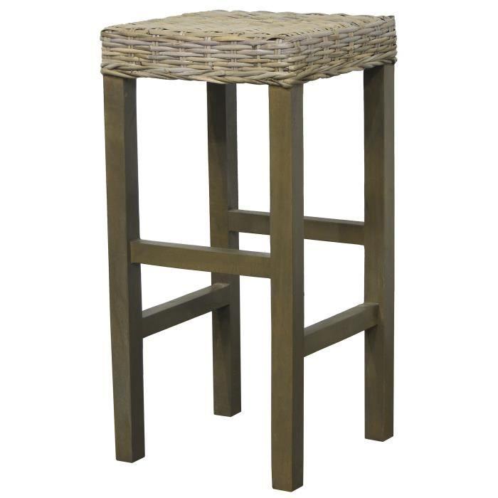 tabouret bois massif. Black Bedroom Furniture Sets. Home Design Ideas