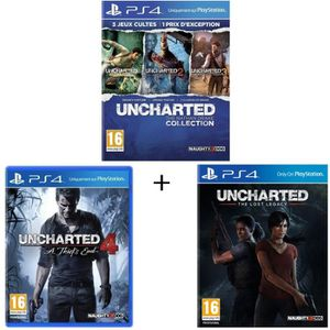 JEU PS4 Pack Uncharted : The Nathan Drake Collection + Unc