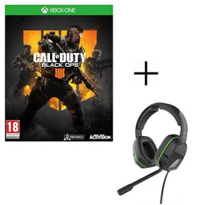 JEU XBOX ONE Call of Duty Black OPS 4 Jeu Xbox One + Casque Aft