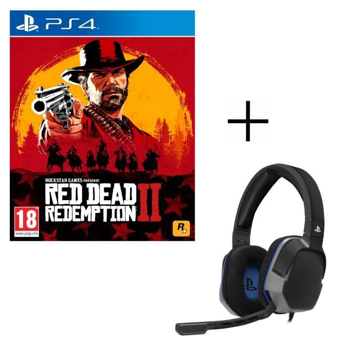 CASQUE RÉALITÉ VIRTUELLE Red Dead Redemption 2 Jeu PS4 + Casque Gamer After