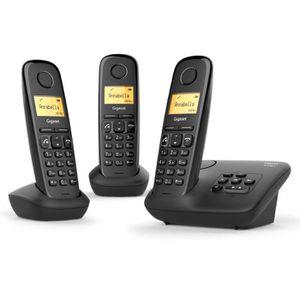 Téléphone fixe Gigaset A270 A Trio Noir avec répondeur