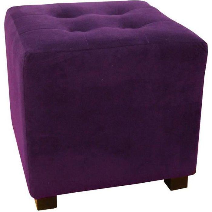 pouf violet achat vente pouf violet pas cher cdiscount. Black Bedroom Furniture Sets. Home Design Ideas